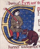 Montreur d'ours au Moyen Age
